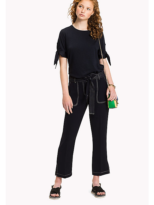 TOMMY HILFIGER Tied Cuff Top - MIDNIGHT - TOMMY HILFIGER New arrivals - main image
