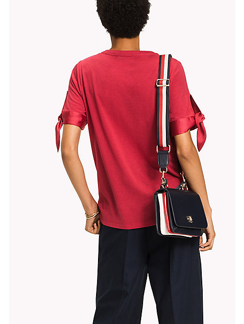 TOMMY HILFIGER Tied Cuff Top - CRIMSON - TOMMY HILFIGER New arrivals - detail image 1