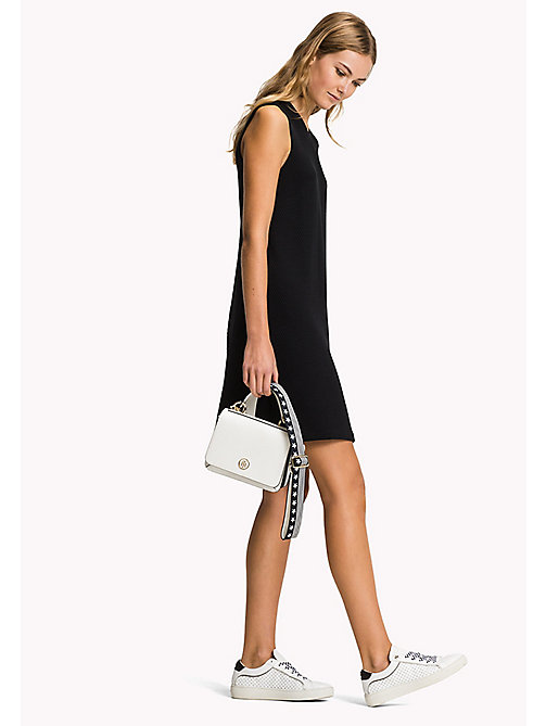 TOMMY HILFIGER Textured Jacquard Dress - BLACK BEAUTY - TOMMY HILFIGER Midi - main image