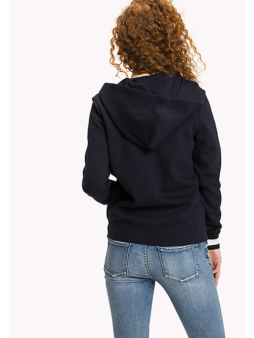 TOMMY HILFIGER Zip Thru Hoody - MIDNIGHT - TOMMY HILFIGER Women - detail image 1