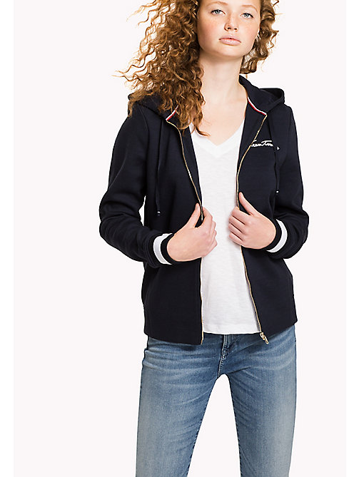 TOMMY HILFIGER Zip Thru Hoody - MIDNIGHT - TOMMY HILFIGER Women - main image