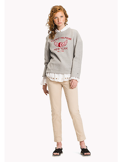 TOMMY HILFIGER Comfort Fit Sweatshirt mit Logo - LIGHT GREY HTR - TOMMY HILFIGER Clothing - main image