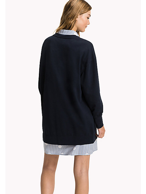 TOMMY HILFIGER Comfort Fit Logo Sweatshirt - MIDNIGHT - TOMMY HILFIGER Свитшоты - подробное изображение 1