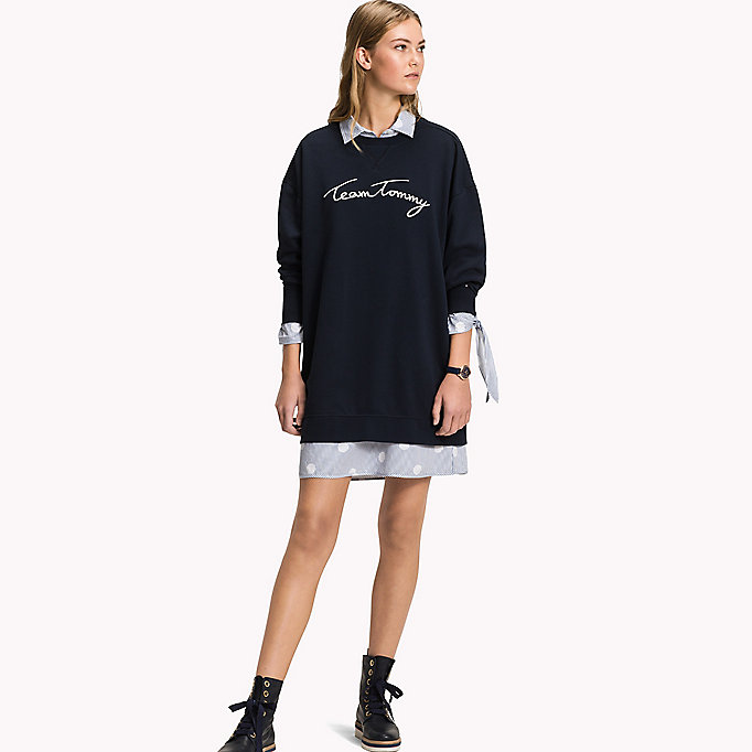 TOMMY HILFIGER Sweat à logo coupe confort - DUTCH BLUE - TOMMY HILFIGER Femmes - image principale