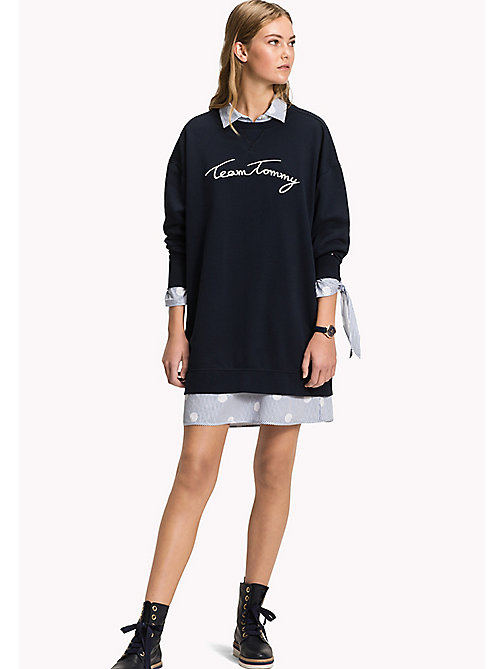 TOMMY HILFIGER Comfort Fit Logo Sweatshirt - MIDNIGHT - TOMMY HILFIGER Свитшоты - главное изображение