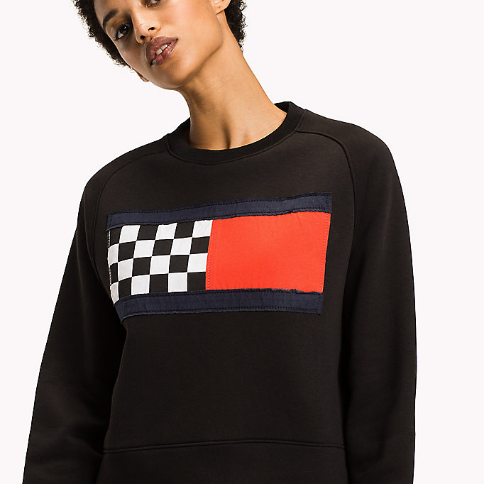 TOMMY HILFIGER Racing Flag Sweatshirt - FLAME SCARLET - TOMMY HILFIGER Women - detail image 2