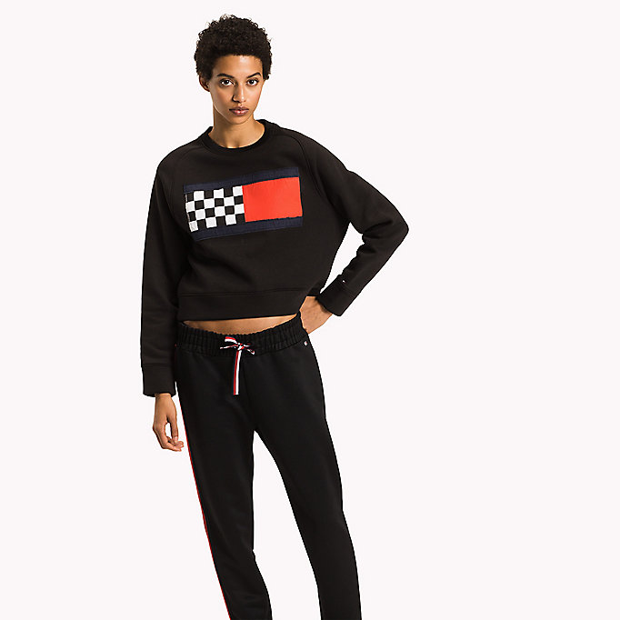 TOMMY HILFIGER Racing Flag Sweatshirt - FLAME SCARLET - TOMMY HILFIGER Women - main image