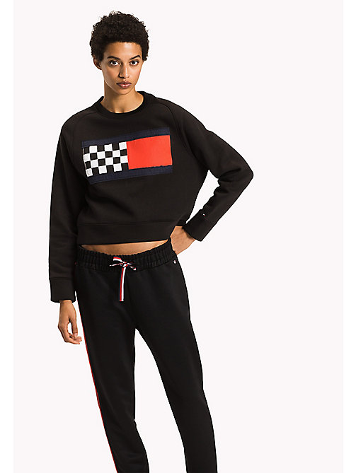 TOMMY HILFIGER Racing Flag Sweatshirt - BLACK BEAUTY - TOMMY HILFIGER NEW IN - main image
