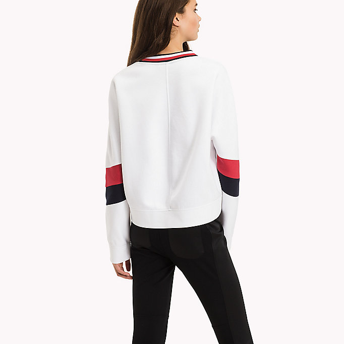 TOMMY HILFIGER Athletic Signature Stripe Jumper - MIDNIGHT - TOMMY HILFIGER Kleding - detail image 1