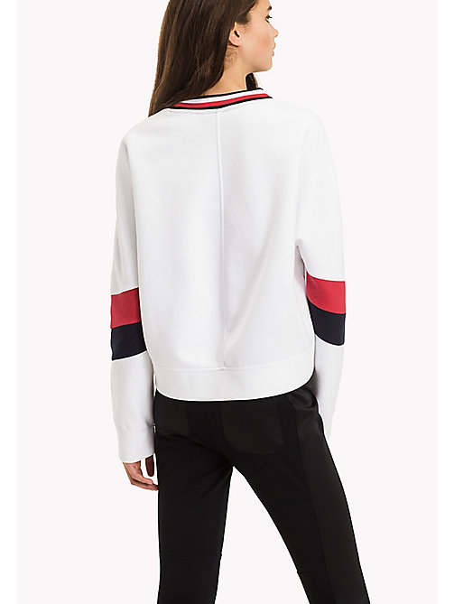 TOMMY HILFIGER Athletic Signature Stripe Sweatshirt - CLASSIC WHITE - TOMMY HILFIGER Athleisure - detail image 1