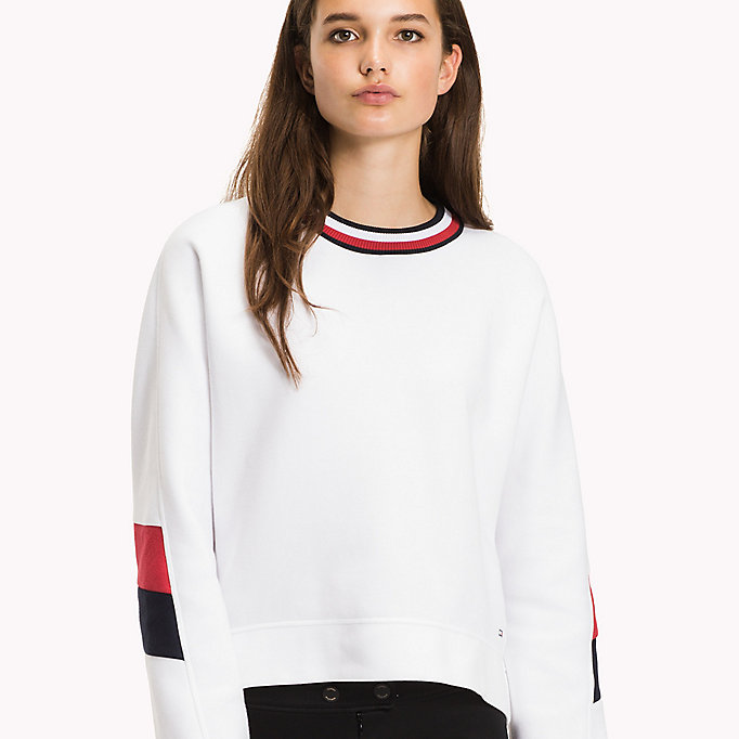 TOMMY HILFIGER Athletic Signature Stripe Jumper - MIDNIGHT - TOMMY HILFIGER Kleding - detail image 2