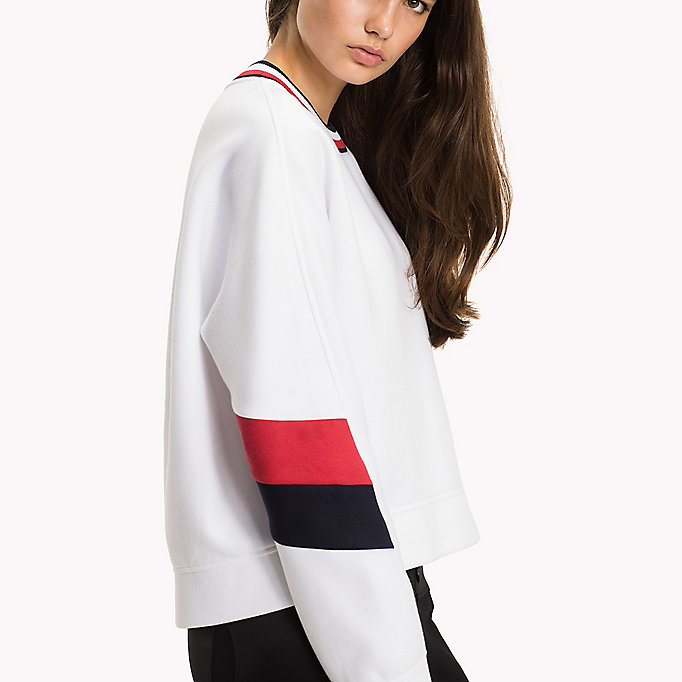 TOMMY HILFIGER Athletic Signature Stripe Jumper - MIDNIGHT - TOMMY HILFIGER Kleding - main image