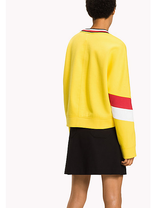 TOMMY HILFIGER Athletic Signature Stripe Sweatshirt - EMPIRE YELLOW - TOMMY HILFIGER Sweatshirts - detail image 1