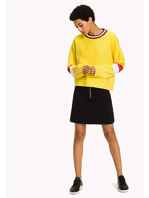 TOMMY HILFIGER Athletic Signature Stripe Sweatshirt - EMPIRE YELLOW - TOMMY HILFIGER Athleisure - main image