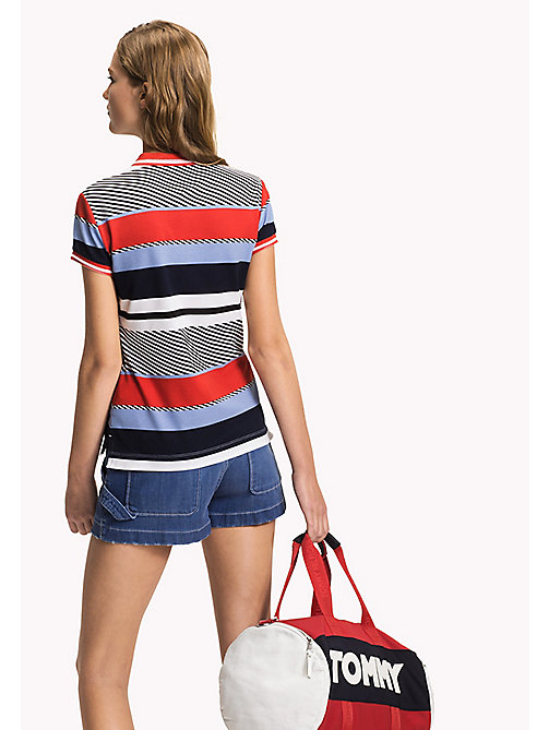 TOMMY HILFIGER Polo aderente stampata - SPEED PATCHWORK STP / BLACK BEAUTY - TOMMY HILFIGER Moda Mare - dettaglio immagine 1