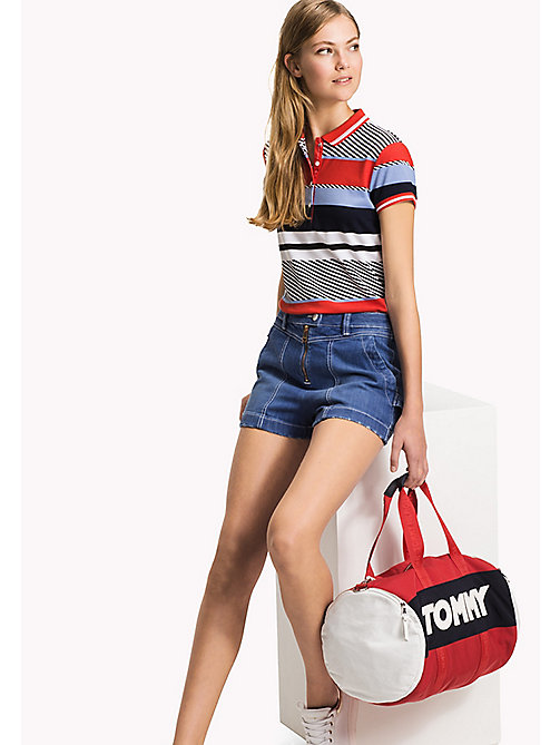 TOMMY HILFIGER Poloshirt mit Print - SPEED PATCHWORK STP / BLACK BEAUTY - TOMMY HILFIGER NEW IN - main image