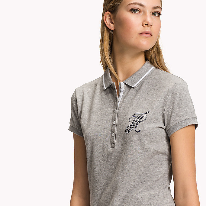 TOMMY HILFIGER Fitted Heritage Stripe Polo - CLASSIC WHITE - TOMMY HILFIGER Women - detail image 2