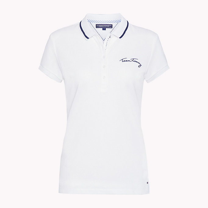 TOMMY HILFIGER Polo Heritage aderente - ORCHID PINK - TOMMY HILFIGER Donne - dettaglio immagine 3