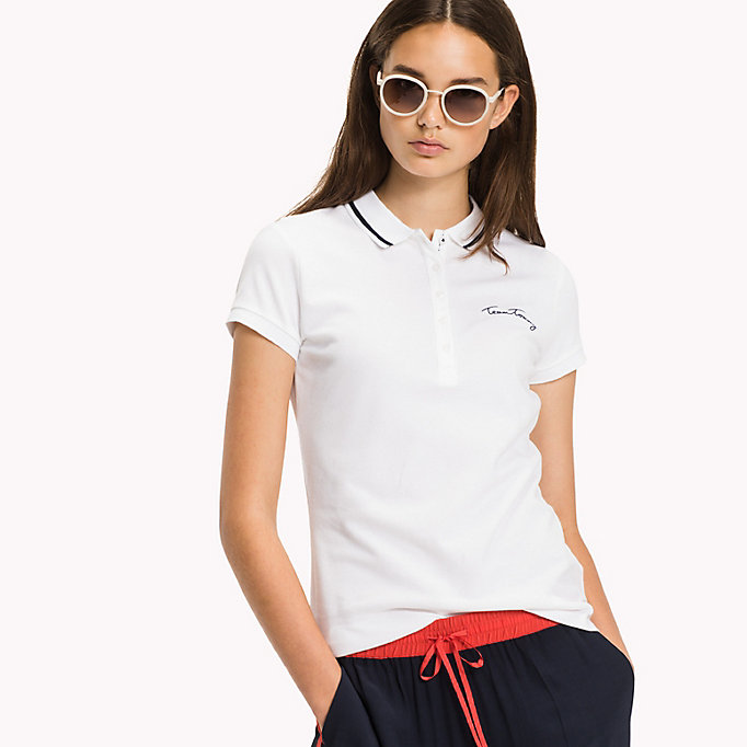 TOMMY HILFIGER Polo Heritage aderente - ORCHID PINK - TOMMY HILFIGER Donne - immagine principale