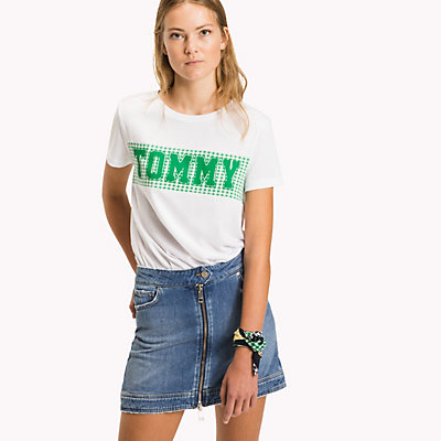 TOMMY JEANS  - CLASSIC WHITE / GINGHAM PRT -   - image principale