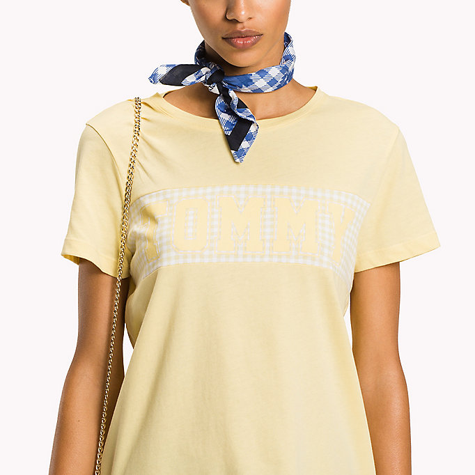 TOMMY HILFIGER T-Shirt mit Vichy-Muster und Logo - CLASSIC WHITE / GINGHAM PRT - TOMMY HILFIGER Damen - main image 2