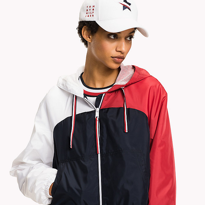 TOMMY HILFIGER Athletic Windbreaker - SILVER - TOMMY HILFIGER Kleding - detail image 3