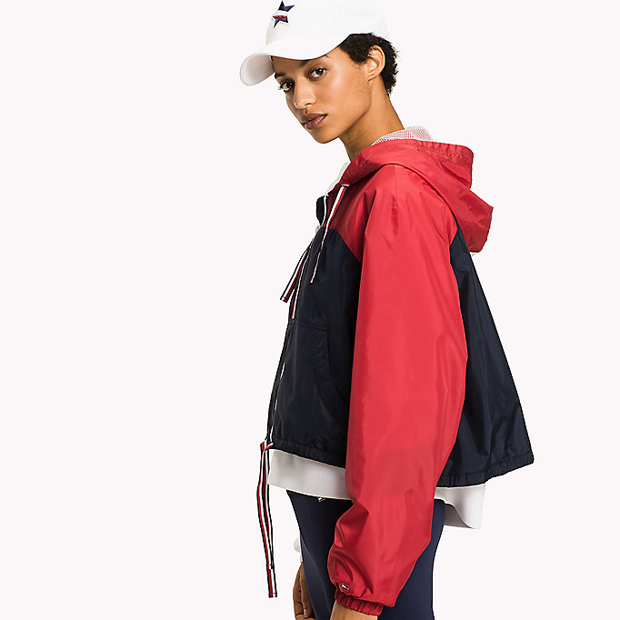 TOMMY HILFIGER Athletic Windbreaker - SILVER - TOMMY HILFIGER Kleding - detail image 4