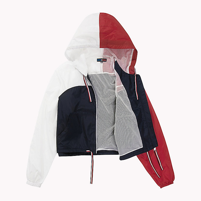 TOMMY HILFIGER Athletic Windbreaker - SILVER - TOMMY HILFIGER Kleding - detail image 5