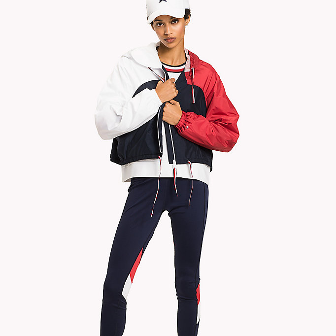 TOMMY HILFIGER Athletic Windbreaker - SILVER - TOMMY HILFIGER Women - main image