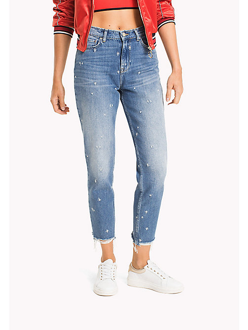 TOMMY HILFIGER Star Embroidery Mum Fit Jeans - KEENA - TOMMY HILFIGER Girlfriend Jeans - main image