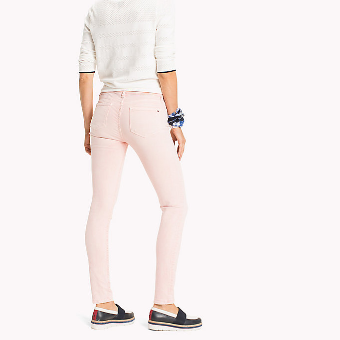 TOMMY HILFIGER Skinny Fit Jeans mit Färbung - TAPIOCA - TOMMY HILFIGER Kleidung - main image 1
