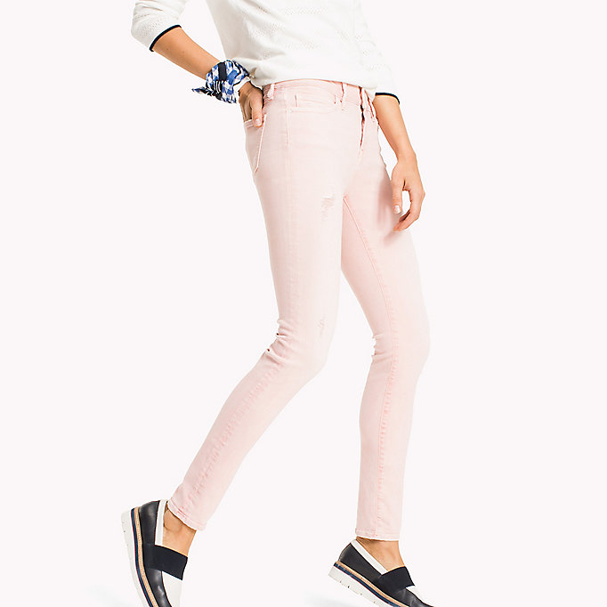 TOMMY HILFIGER Skinny Fit Jeans mit Färbung - TAPIOCA - TOMMY HILFIGER Kleidung - main image 2