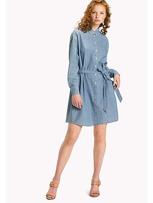 TOMMY HILFIGER Chambray Shirt Dress - MIFFY - TOMMY HILFIGER Mini - main image