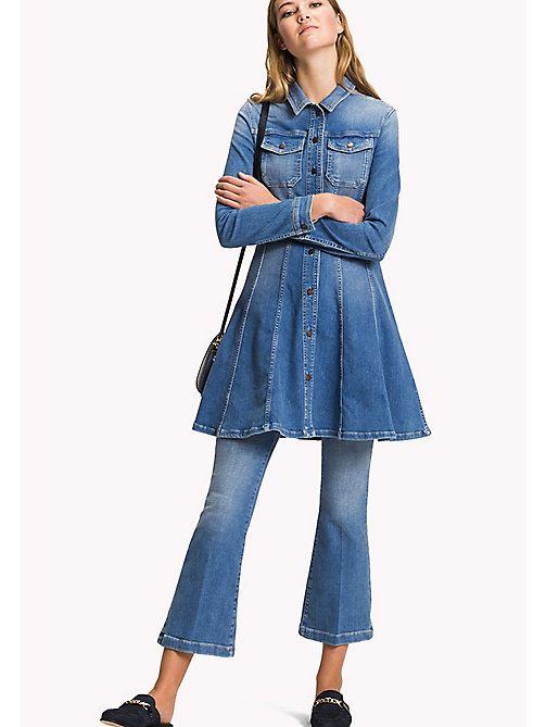 Flared Denim Shirt Dress - SKYLAR - TOMMY HILFIGER Clothing - main image