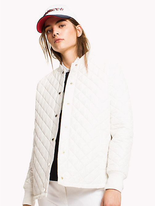 TOMMY HILFIGER Quilted Bomber Jacket - SNOW WHITE - TOMMY HILFIGER Clothing - main image
