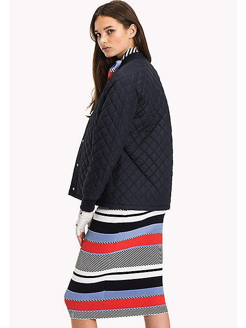 TOMMY HILFIGER Quilted Bomber Jacket - MIDNIGHT - TOMMY HILFIGER Women - detail image 1