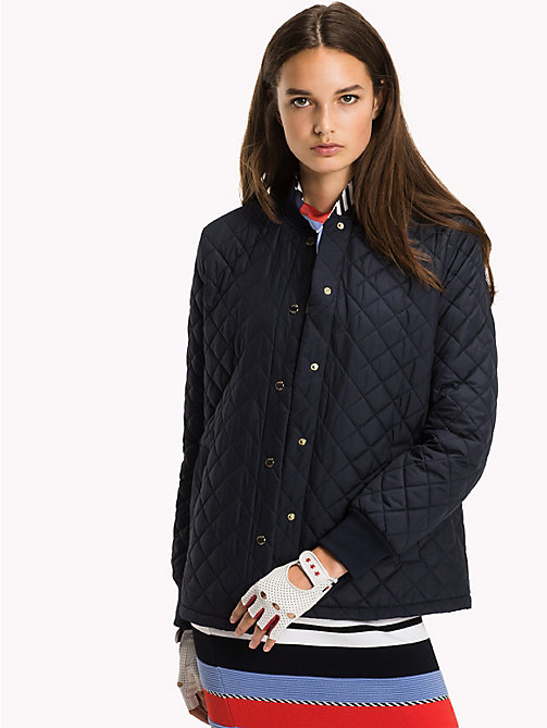 TOMMY HILFIGER Quilted Bomber Jacket - MIDNIGHT - TOMMY HILFIGER Clothing - main image