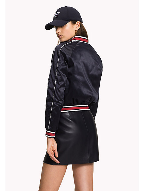 TOMMY HILFIGER Satin Team Bomber Jacket - MIDNIGHT - TOMMY HILFIGER Bomber Jackets - detail image 1