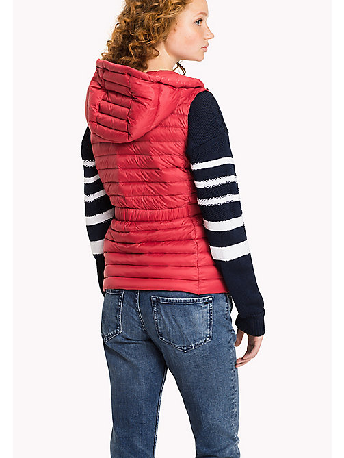 TOMMY HILFIGER Hooded Padded Gilet - CRIMSON - TOMMY HILFIGER Clothing - detail image 1