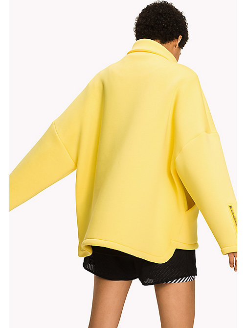 TOMMY HILFIGER Scuba Jersey Jacket - EMPRIE YELLOW - TOMMY HILFIGER Clothing - detail image 1