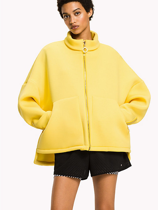 TOMMY HILFIGER Scuba Jersey Jacket - EMPRIE YELLOW -  Athleisure - main image