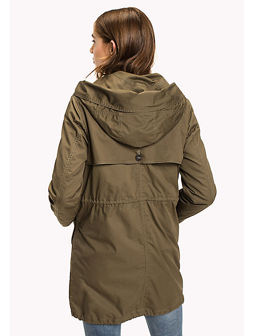 TOMMY HILFIGER Cotton Parka - OLIVE NIGHT - TOMMY HILFIGER Coats - detail image 1