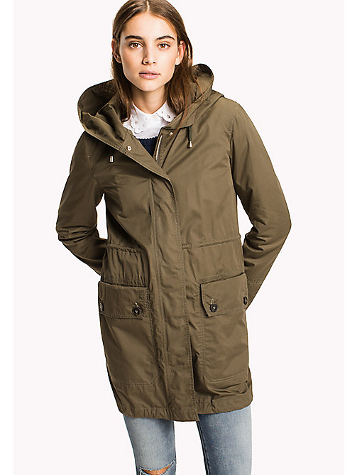 TOMMY HILFIGER Cotton Parka - OLIVE NIGHT -  Coats - main image