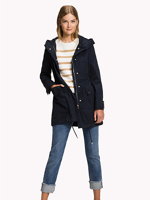 TOMMY HILFIGER Cotton Parka - MIDNIGHT - TOMMY HILFIGER Coats - main image