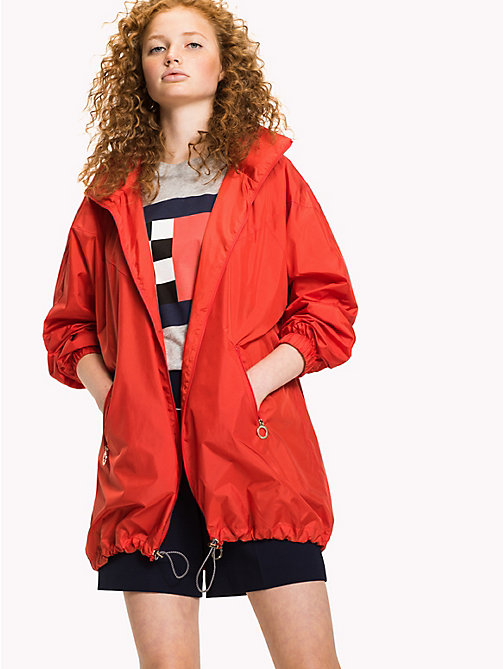 TOMMY HILFIGER Packable Parka - FLAME SCARLET - TOMMY HILFIGER NEW IN - main image