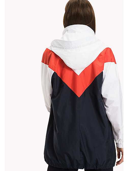 TOMMY HILFIGER Packable Parka - MIDNIGHT/ FLAME SCARLET / CLASSIC WHITE - TOMMY HILFIGER NEW IN - detail image 1