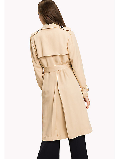 TOMMY HILFIGER Comfort Fit Trench Coat - PEBBLE - TOMMY HILFIGER New arrivals - detail image 1