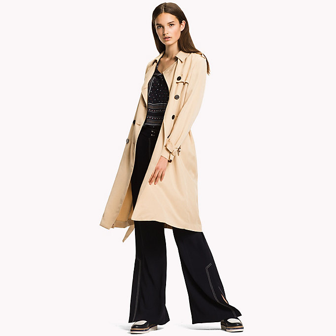 TOMMY HILFIGER Comfort Fit Trench Coat - DUTCH BLUE - TOMMY HILFIGER Women - detail image 2