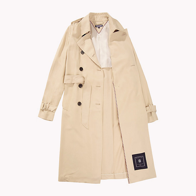 TOMMY HILFIGER Comfort Fit Trench Coat - DUTCH BLUE - TOMMY HILFIGER Women - detail image 4