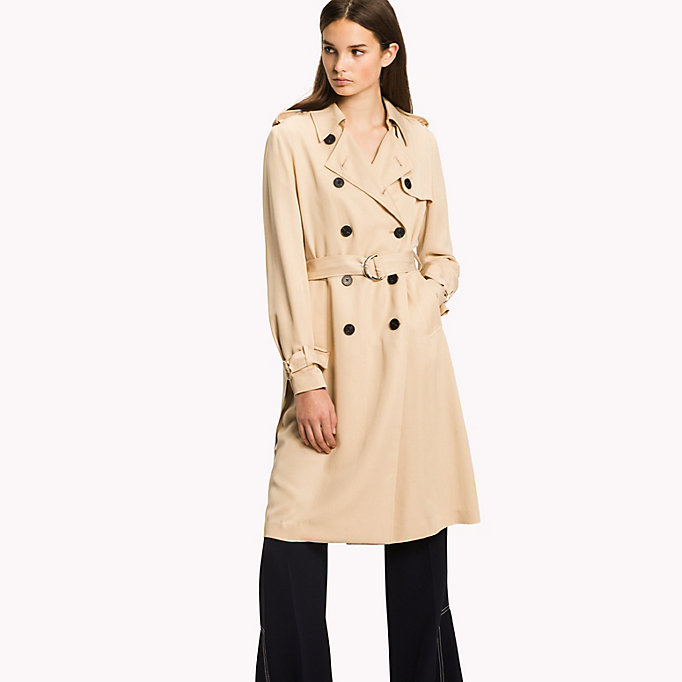 TOMMY HILFIGER Comfort Fit Trench Coat - DUTCH BLUE - TOMMY HILFIGER Women - main image